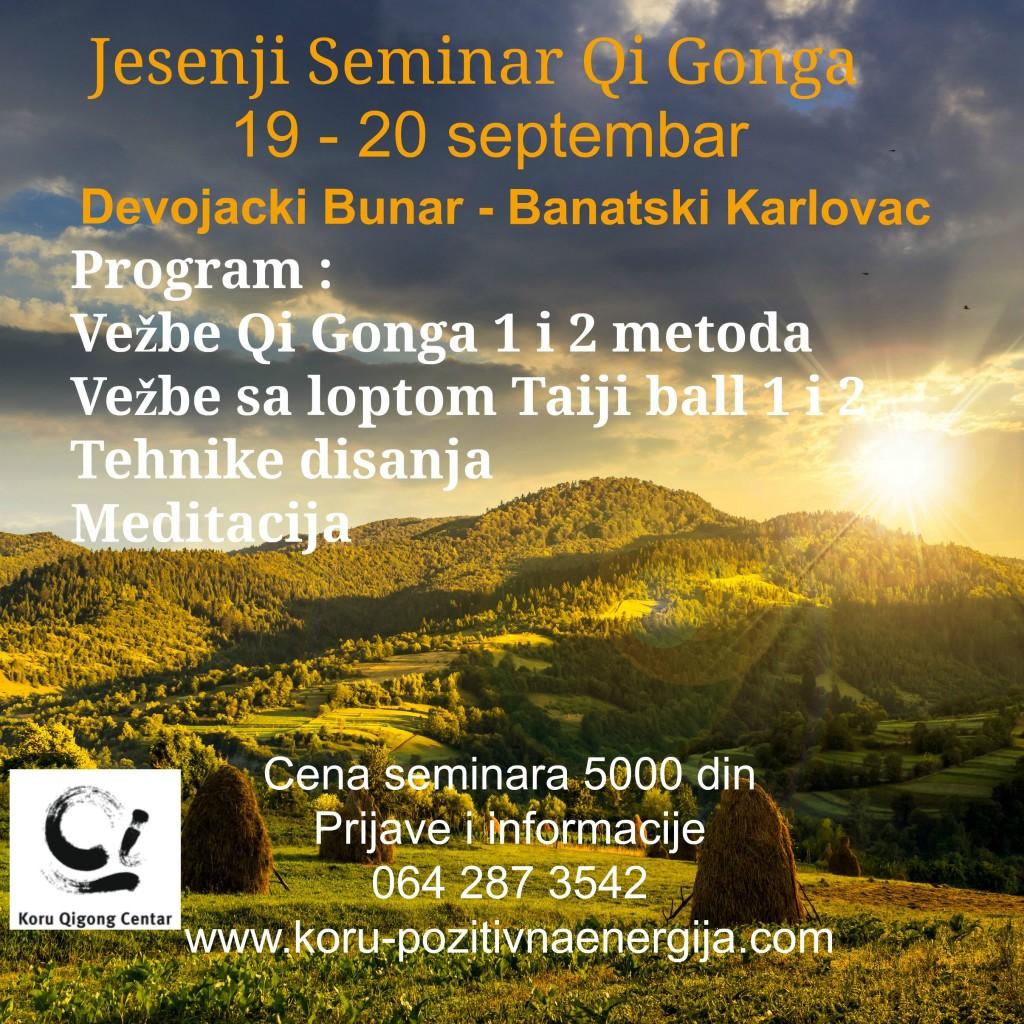 Jesenji seminar Qi Gonga